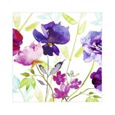"""Декупажные салфетки """"Акварельные цветы"""", цветные, 33*33 см, 17,5 г/м2, 20 шт, ti-flair"""