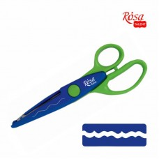 Фигурные ножницы №7, 16,5х6,5см, ROSA TALENT
