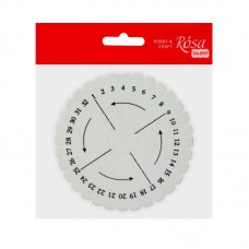 Диск пенопластовый для плетения браслетов из ниток, 100*10 мм, ROSA TALENT