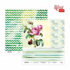 "Бумага для скрапбукинга ""Floral Poem"" 15, двусторонняя, 30х30см, 200г/м2, ROSA TALENT"