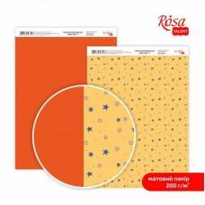 """Бумага дизайнерская двусторонняя матовая """"NewYear"""" 7, 21х29,7 см, 200 г/м2, ROSA TALENT"""