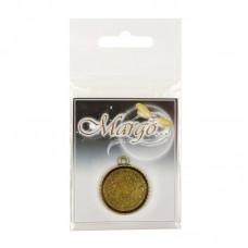 Основа для кулона, 29*29*2,5 мм, 25,5 мм, Античное золото, 1шт., Margo