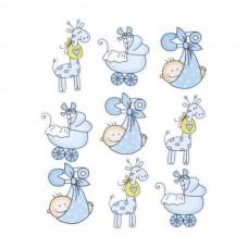 """Набор декоративных элементов """"Детский 1"""", голубой, 9шт, Knorr Prandell"""