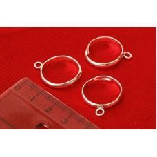 Основа для колец, 8* 3 мм, Серебро, 3 шт., Margo