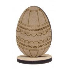 """Заготовка """"Яйце"""" 7, на підставці, 2 шт, МДФ, 8,5х6х0,6см, ROSA TALENT"""
