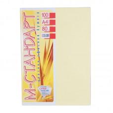 """Пап. кольор. """"М-Стандарт"""" A4 паст. (80г) Св. Желтая (Ivory) /IT100-66/ (100л)"""