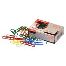 """Скріпки """"NORMA"""" /4734/ 28мм (100шт) PVC покр., кольор., прямі (10/250)"""