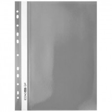 "Швидк. пластик евро перф.""Еconomix Light"" /Е38504-10/ А4 сірий (10/300)"