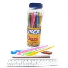 "Ручка масл. ""Wiser"" ""DOXE"" 0,6мм (корпус mix) банка 30шт синя (30/2400)"