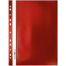 "Швидк. пластик евро перф.""Еconomix Light"" /Е38504-03/ А4 червоний (10/300)"