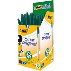 "Ручка кульк. ""BIC"" Cristal /8373629/ зелен. (50/1000)"