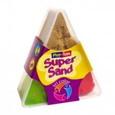 "Пісок кінетич. ""Play-Toys"" /225/ Tri Color-3x100г (1/24)"