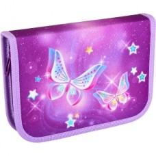 """Пенал """"TIGER"""" /NQ18-B05E/ 1 відд., 1 відв., б/н. """"Starry Butterflies"""" (girls) (1/24)"""