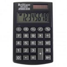 КалькуляторBrilliant BS-200 X карман.8-розр, ПВХобкладника 117*70