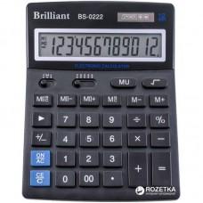 КалькуляторBrilliant BS-0222 настіл. 12разр, 2 пам, 140*176