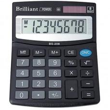 КалькуляторBrilliant BS-208 наст. 8-розр,1 пам.100*125