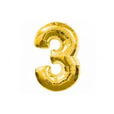 """Кулька - цифра """"WB"""" /8535g-3/ """"3"""" золота , 75см"""