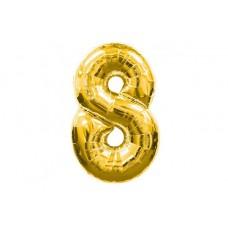 """Кулька - цифра """"WB"""" /8535g-8/ """"8"""" золота , 45см"""