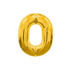 """Кулька - цифра """"WB"""" /8535g-0/ """"0"""" золота , 45см"""
