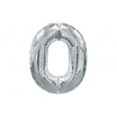 """Кулька - цифра """"WB"""" /8537s-0/ """"0"""" срібна , 75см"""