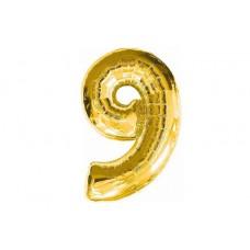 """Кулька - цифра """"WB"""" /8535g-9/ """"9"""" , золота 45см"""
