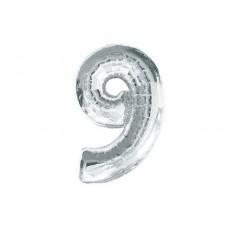 """Кулька - цифра """"WB"""" /8535s-9/ """"9"""" , срібна 45см"""