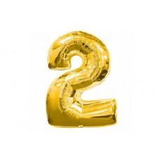 """Кулька - цифра """"WB"""" /8535g-2/ """"2"""" золота , 45см"""
