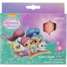 Мел цветной Jumbo, 6 цветов, Shimmer&Shine SH18-073