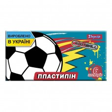 "Пластилін 6 кол. 120г ""1В"" /540550/ ""Team football"" (1/60)"