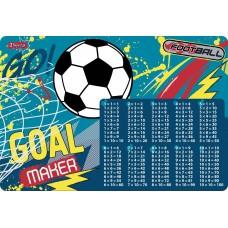 """Подложка для стола 1Вересня детская """"Team football"""" (табл.умножения)"""