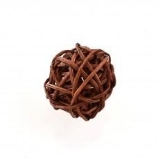 Шар ротанговый коричневый, d-3см