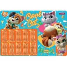 """Подложка для стола 1Вересня детская """"44 Cats"""" (табл.умножения)"""