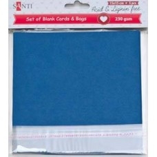 Набор темно-синих заготовок для открыток, 15см*15см, 230г/м2, 5шт.