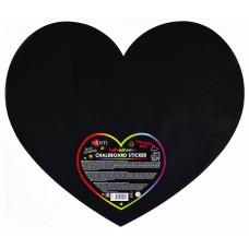 """Меловый самоклеящийся стикер """"Сердце"""", 49*42 см, 1 шт."""